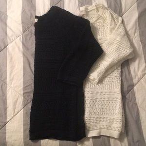 Loft bundle size M 3/4 sleeve cotton knit tops